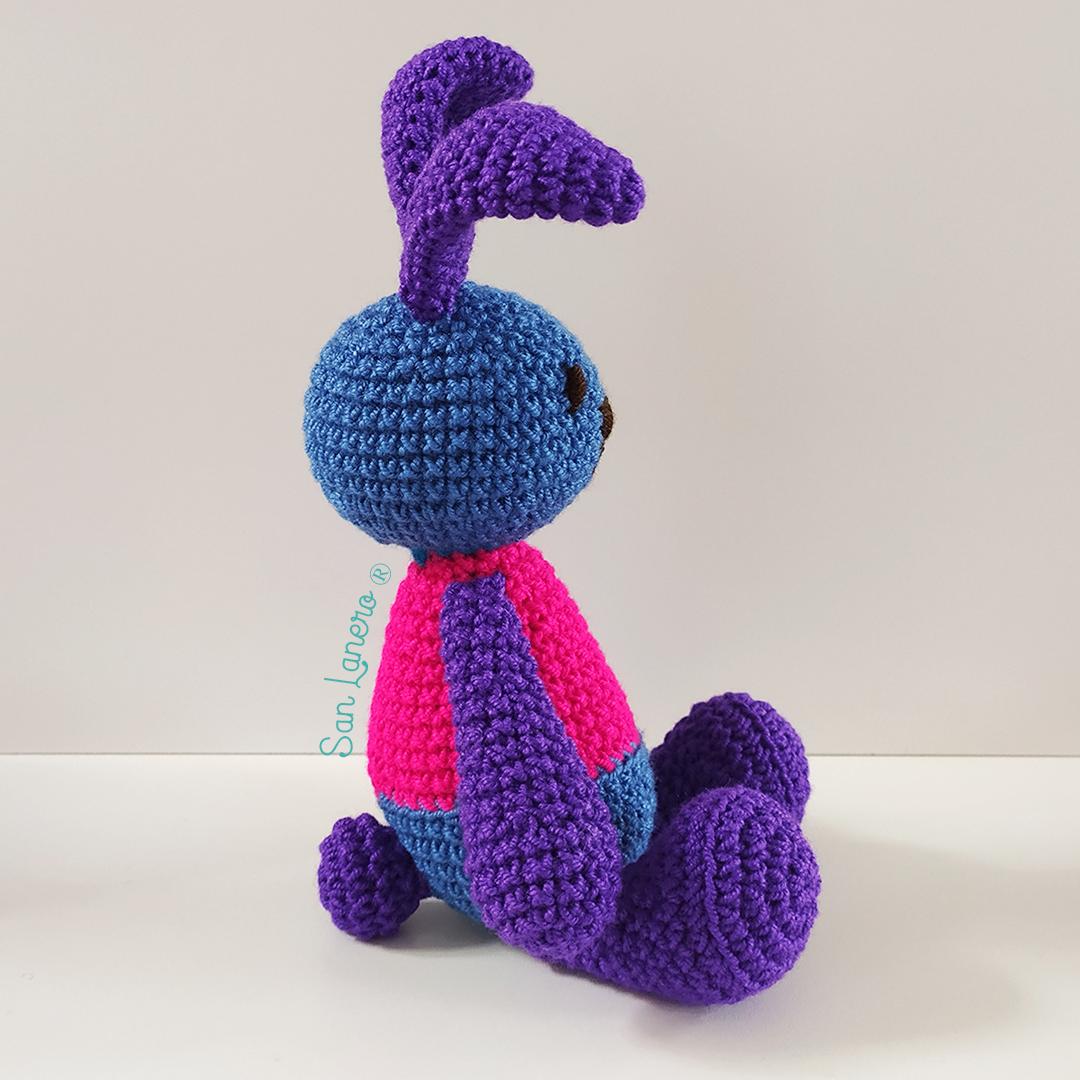 Aprendiendo a tejer un conejo